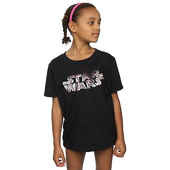 Star Wars Girls der letzten Jedi Spray Logo T-Shirt