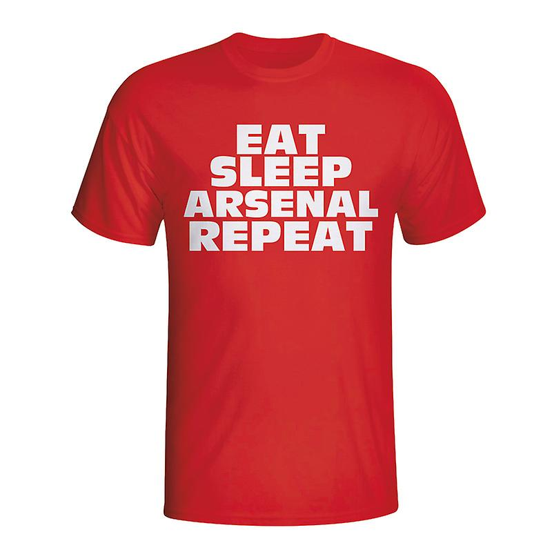 Eat Sleep Arsenal Repeat T-shirt (red)