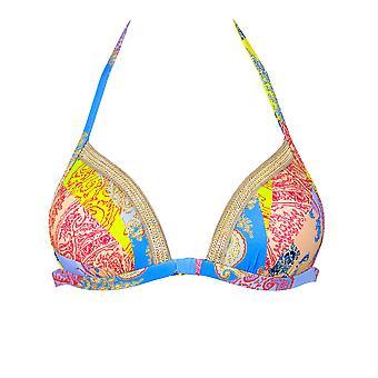 Maryan Mehlhorn 5689/514/404 Art Multicoloured Bikini Set W/Gold Chain Neck