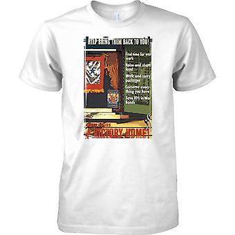 Casa vitória - cartaz de Propaganda de WW2 - aliado a guerra de mundo - Mens T-Shirt
