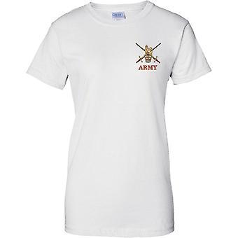 Britische Armee Insignia - Croassed Schwerter - Damen Brust Design T-Shirt
