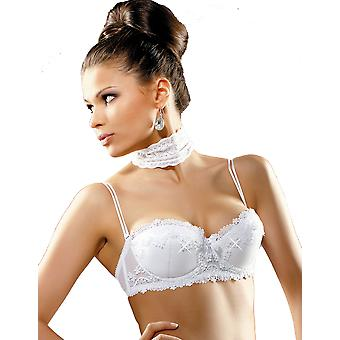 Gracya Madonna White Balconette Bra with Swarovski Crystals 133