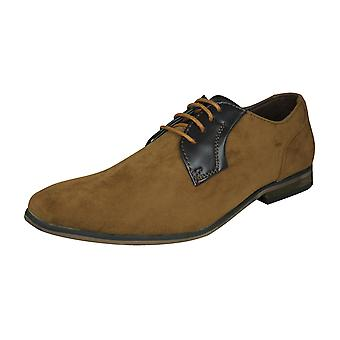 Lambretta Sol Mens Smart Casual Lace Up Shoes - Tan