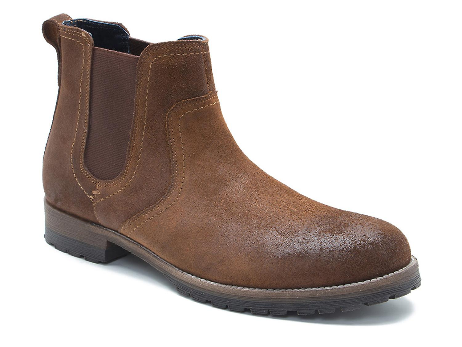 Red Tape Clifton Waxy Wood Brown Suede Chelsea Boots