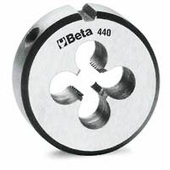 Beta 440 3 M3 X 25.4Mm/1In O/D Round Dies Coarse Pitch Made From Chrome-Steel