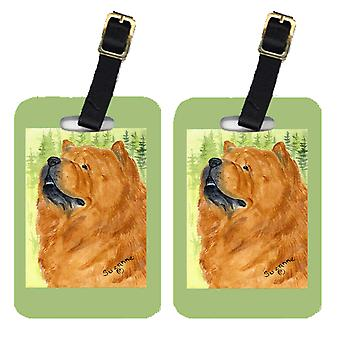 Carolines Treasures  SS7007BT Pair of 2 Chow Chow Luggage Tags