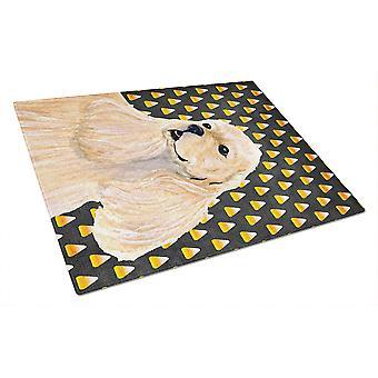 Кокер спаниель кукурузы конфеты Хэллоуин портрет Стеклянная Разделочная доска большой