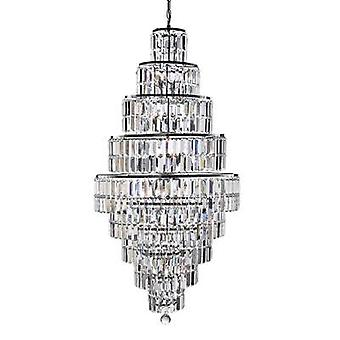Searchlight 1500CC Vesuvius 13 Light Chandelier Chrome & Crystal Glass