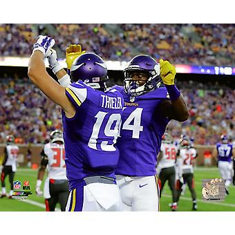 Adam Thielen & Stefon Diggs 2015 Action Photo Print