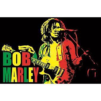 Sort lys - Bob Marley plakat plakat Print