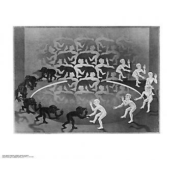 Encounter Poster Print by MC Escher (26 x 22)