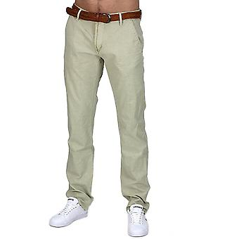 CHINO style K jeans trousers regular fit Chinohose trousers beige black with belt