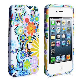 Yousave Zubehör-Iphone 5 und 5 s Rainbow Floral Gel Fall