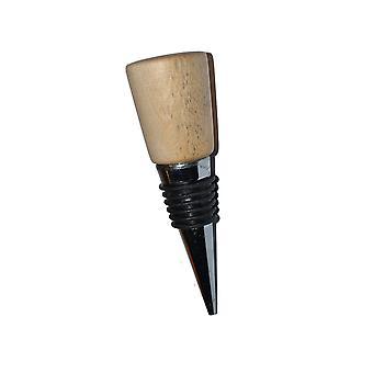 Weinstoppen Weinverschluss Weinstöpsel Weinstopfen Flaschenverschluss Holz Edelstahl Birke handmade Unikat