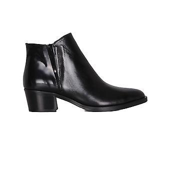 Franca women's 1263NERO black leather of desert boots