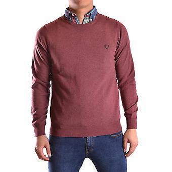 Fred Perry men's MCBI128200O Bordeaux red wool sweater