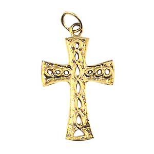 9ct Gold-24x17mm Knoten geprägt Celtic Cross