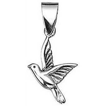 Beginnings Oxidised Bird Pendant - Silver