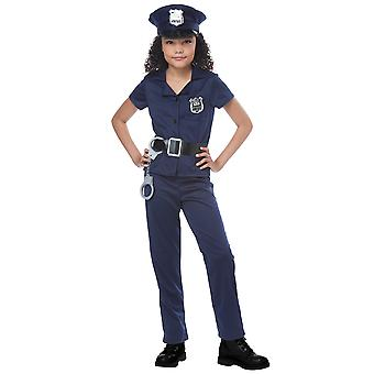Cute Cop Policewoman Police Officer FBI Uniform Book Week Girls Costume
