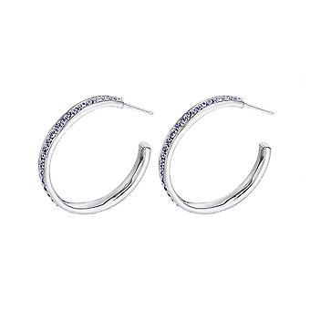 Earrings small Creole Elements purple Swarovski Crystal