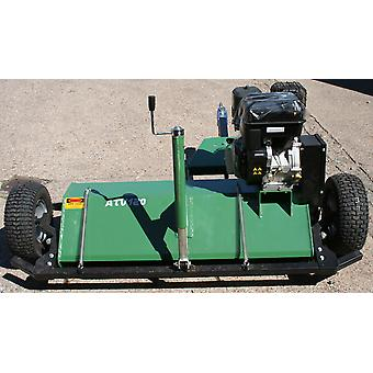 13.5Hp 460Cc Briggs & Stratton Powered Flail Mower 1.2M Cutting Width - Green -  2 Replacement Belts included