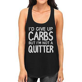 Carbs Quitter Womens Black Racerback Tank Top Workout Friend Gifts