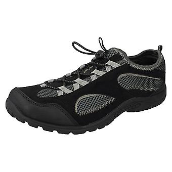 Mens 50 Peaks By Hi-Tec Multi Sport Trainers Bude - Black/Grey Textile - UK Size 8 - EU Size 42 - US Size 9