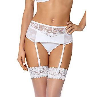 Nipplex SAN-BIA-PAS Women's Sandra White Lace Garter Belt Suspender Belt