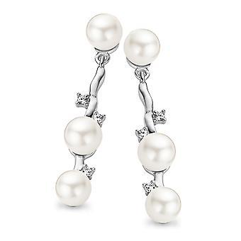Orphelia argento 925 orecchino Shell perle zirconio ZO-5081