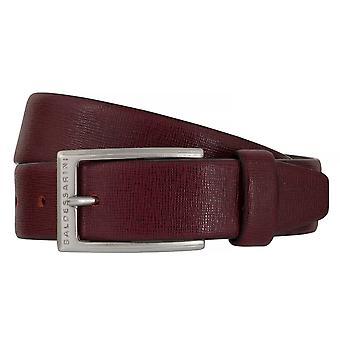 BALDESSARINI belt leather belts men's belts leather red 6495