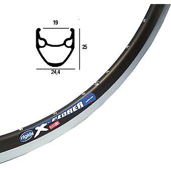 Roda de bicicleta Xplorer Ryde (Rigida) preta / / 559-19 (26)