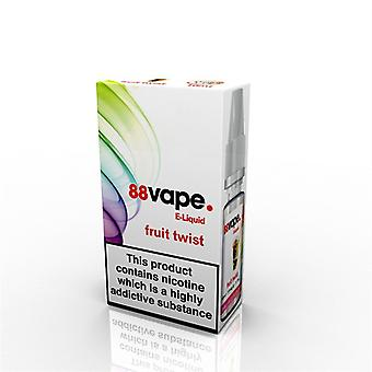 88 Vape E-Liquid Nicotine 16mg Fruit Twist 10ML