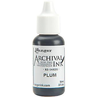 Archival Pad Re-Inker .5oz-Plum