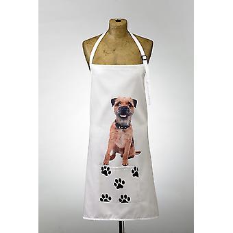 Adorable Border Terrier Design Apron