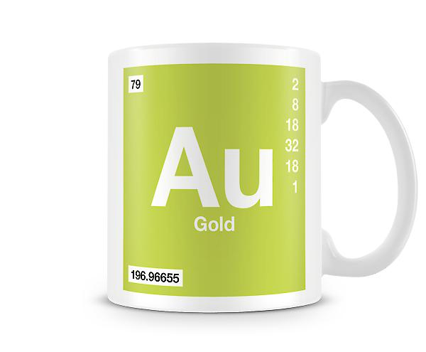 Element Symbol 079 Au -Gold Printed Mug