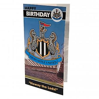 Newcastle United Birthday Card & Badge