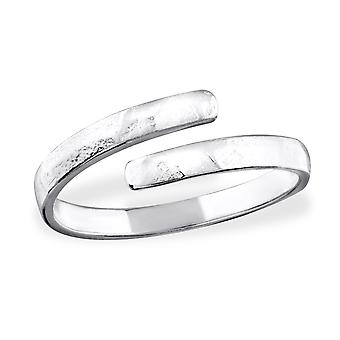 Open - 925 Sterling Silver Plain Rings - W32282x
