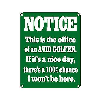 Begeisterter Golfer lustige Hinweisschild