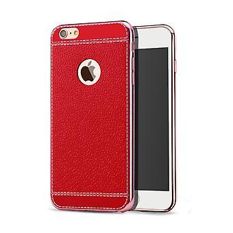 Handy Hülle für Apple iPhone 7 Schutz Case Tasche Bumper Etuis Kunstleder Rot
