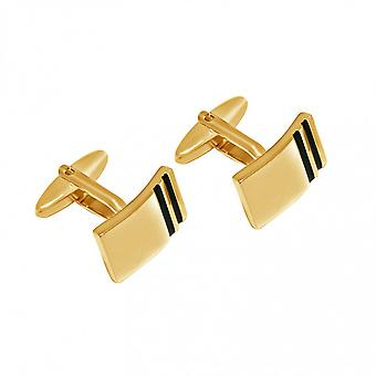 Män - manschettknappar - guldpläterad - brand emalj - 2 cm