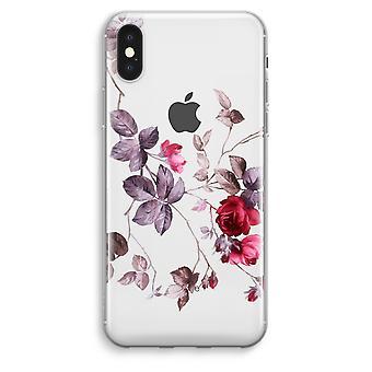 iPhone XS Max Transparent Case (Soft) - Pretty flowers