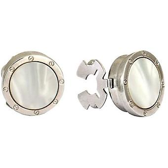 David Van Hagen Porthole Button Covers - White