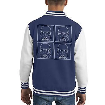 Original Stormtrooper Line Art Four Kid's Varsity Jacket