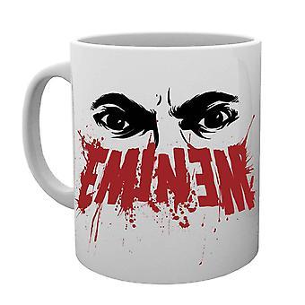 Kamikaze Slim Shady de Eminem taza ojos logo Marshall Mathers oficial blanco en caja
