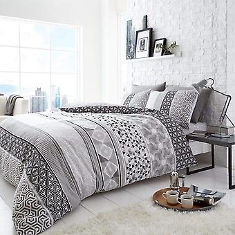 Helsby Banded Patterns Duvet Cover Set