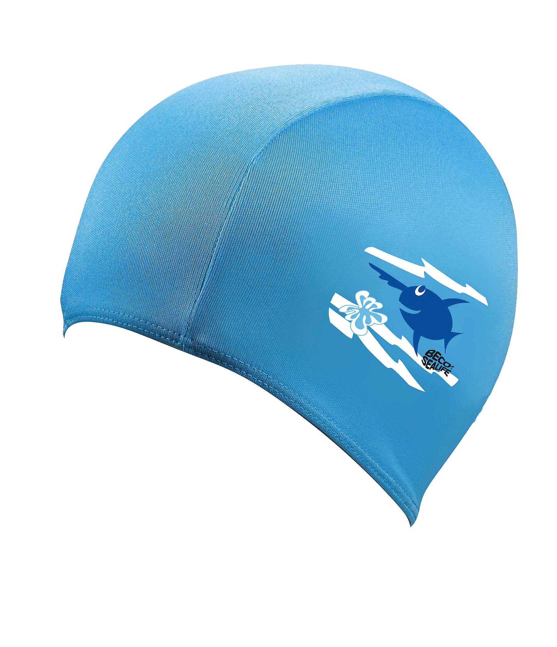 BECO Sealife Junior Polyester Swimming Cap - Blue