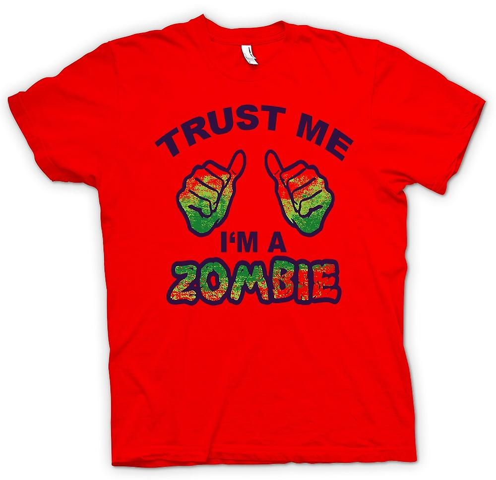 Mens T-shirt - Trust Me Im A Zombie - Funny