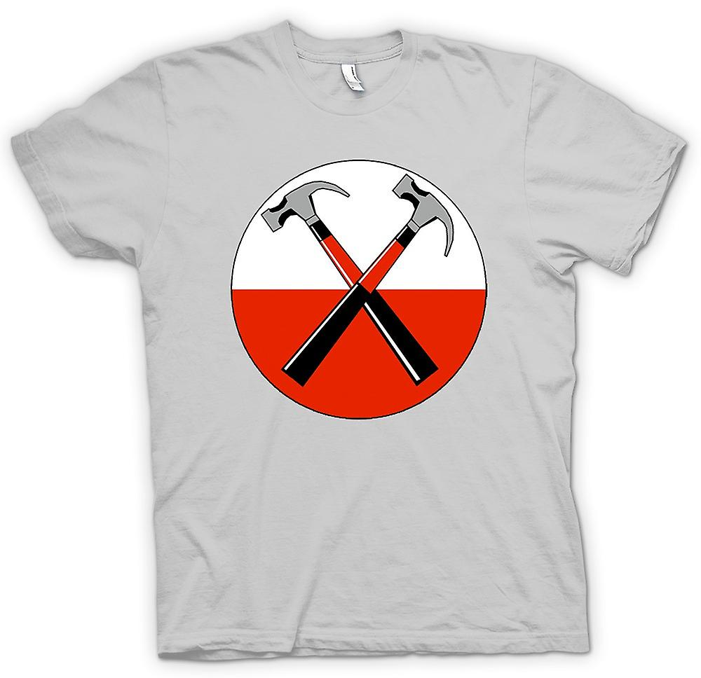Mens T-shirt - Pink Floyd - The Wall Twin Hammer