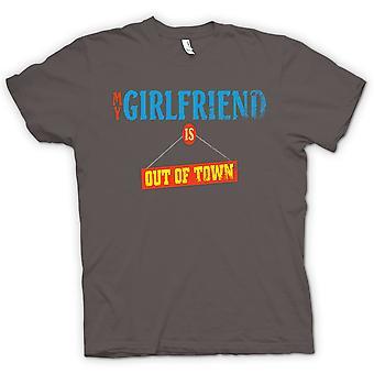 Womens T-shirt - My Girlfriend Is Out Of Town - Joke