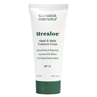 Canarias cosmetics Urealoe hand cream with SPF 15 100 ml hand and nail care